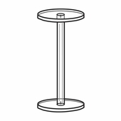 Quick Ship Acrylic Dumbbell Pedestals