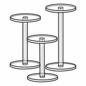 Quick Ship Acrylic Dumbbell Pedestals Set of 3