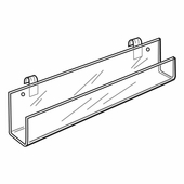 Quick Ship Acrylic Gridwall 23-3/4in.L Card Rack