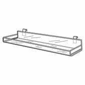 Quick Ship Acrylic Gridwall 23-3/4in.W Shelf