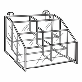 Quick Ship Acrylic Gridwall 3 Tier Hosiery Bin Display