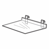 Quick Ship Acrylic Gridwall Economy Shelf