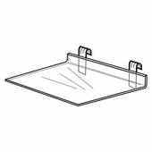 Quick Ship Acrylic Gridwall Flat Shelf
