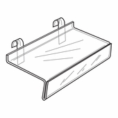 Quick Ship Acrylic Gridwall Shelf With Signholder