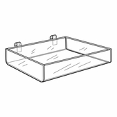 Quick Ship Acrylic Gridwall Trays
