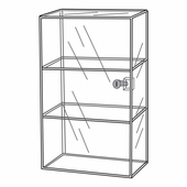 Quick Ship Acrylic Locking 3 Shelf Showcase