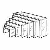 Quick Ship Acrylic Narrow Risers Set of 6
