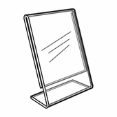 Acrylic Sign Holders Slantback Vertical Quick Ship