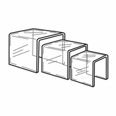 Quick Ship Acrylic Square Risers Set of 3