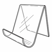 Quick Ship Acrylic Wide Opening Easel 6in.H