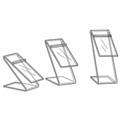 Quick Ship Acrylic Z Bend Shoe Riser (Set of 3)