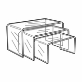 Quick Ship Clear Acrylic Long Risers