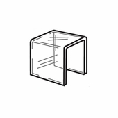 Quick Ship Clear Acrylic Square Risers