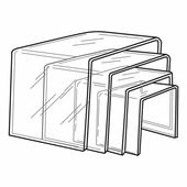 Quick Ship Thick Acrylic Square Risers