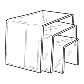 Quick Ship Thick Acrylic Square Risers Set of 3