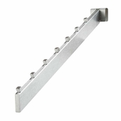Rectangular Rail 7 Cube Waterfall Satin Chrome