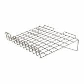 Slatwall 22-1/2in.x 14in. Sloping Wire Shelf Epoxy Chrome - Box of 6