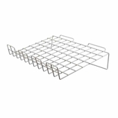 Slatwall 22-1/2in.x 14in. Sloping Wire Shelf White - Box of 6