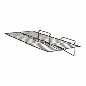 Slatwall 24in.x 12in. Straight Wire Shelf Black