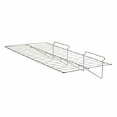 Slatwall 24in.x 12in. Straight Wire Shelf Epoxy Chrome