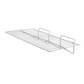 Slatwall 24in.x 12in. Straight Wire Shelf White