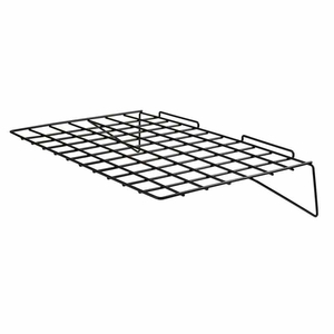 Slatwall 24in.x 14in. Straight Wire Shelf Black - Box of 6
