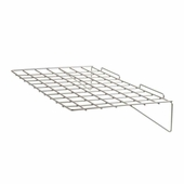 Slatwall 24in.x 14in. Straight Wire Shelf Epoxy Chrome - Box of 6