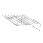 Slatwall 24in.x 14in. Straight Wire Shelf White - Box of 6