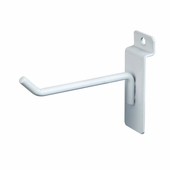 Slatwall 4in. Deluxe Hook White