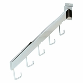 Slatwall 5 Hook Rectangular Tube Waterfall
