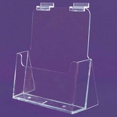 "Slatwall Acrylic Brochure Holder Kicked Out 8-1/2""x11"""