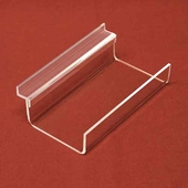 Slatwall Acrylic Flat Single Frame Shelf