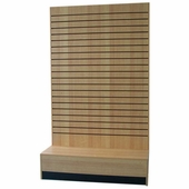 Slatwall L Shaped Merchandiser Maple