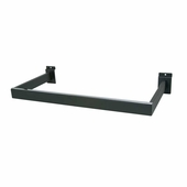 Slatwall U-Shaped Rectangular Tubing Hangrail Black