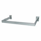 Slatwall U-Shaped Rectangular Tubing Hangrail Chrome