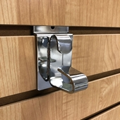 Slatwall Wheel Holder Chrome