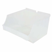 Storbox Big Plastic Bin for Slatwall Clear