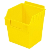 Storbox Cube Plastic Bin for Slatwall Yellow