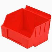 Storbox Standard Plastic Bins for Slatwall Red