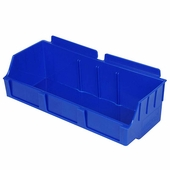 Storbox Wide Plastic Bin for Slatwall Blue