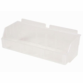 Storbox Wide Plastic Bin for Slatwall Clear