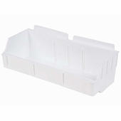 Storbox Wide Plastic Bin for Slatwall White