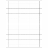 Tag White Insert Style for Scanner Hooks (Pack of 100 Sheets)