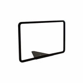 Wedge Base Metal Grocery Sign Holder Black 11in.W X 7in.H