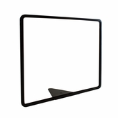 Wedge Base Metal Grocery Sign Holder Black 14in.W X 11in.H