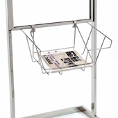 Wire Literature Basket for Bulletin Sign Holder