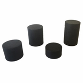 Wood 4 pc Round Stands Brown