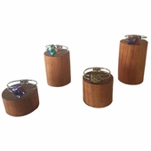 Wood 4 pc Round Stands Natural
