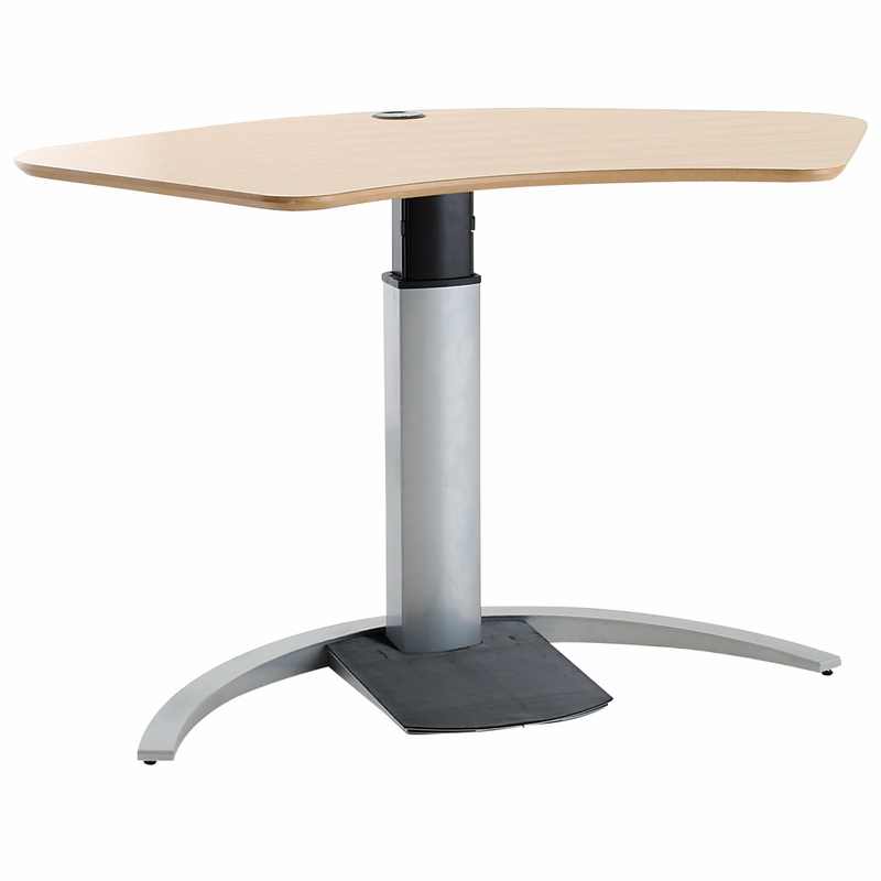 Sit Stand Desk Designs : Sit stand desk electric shop conset laminate