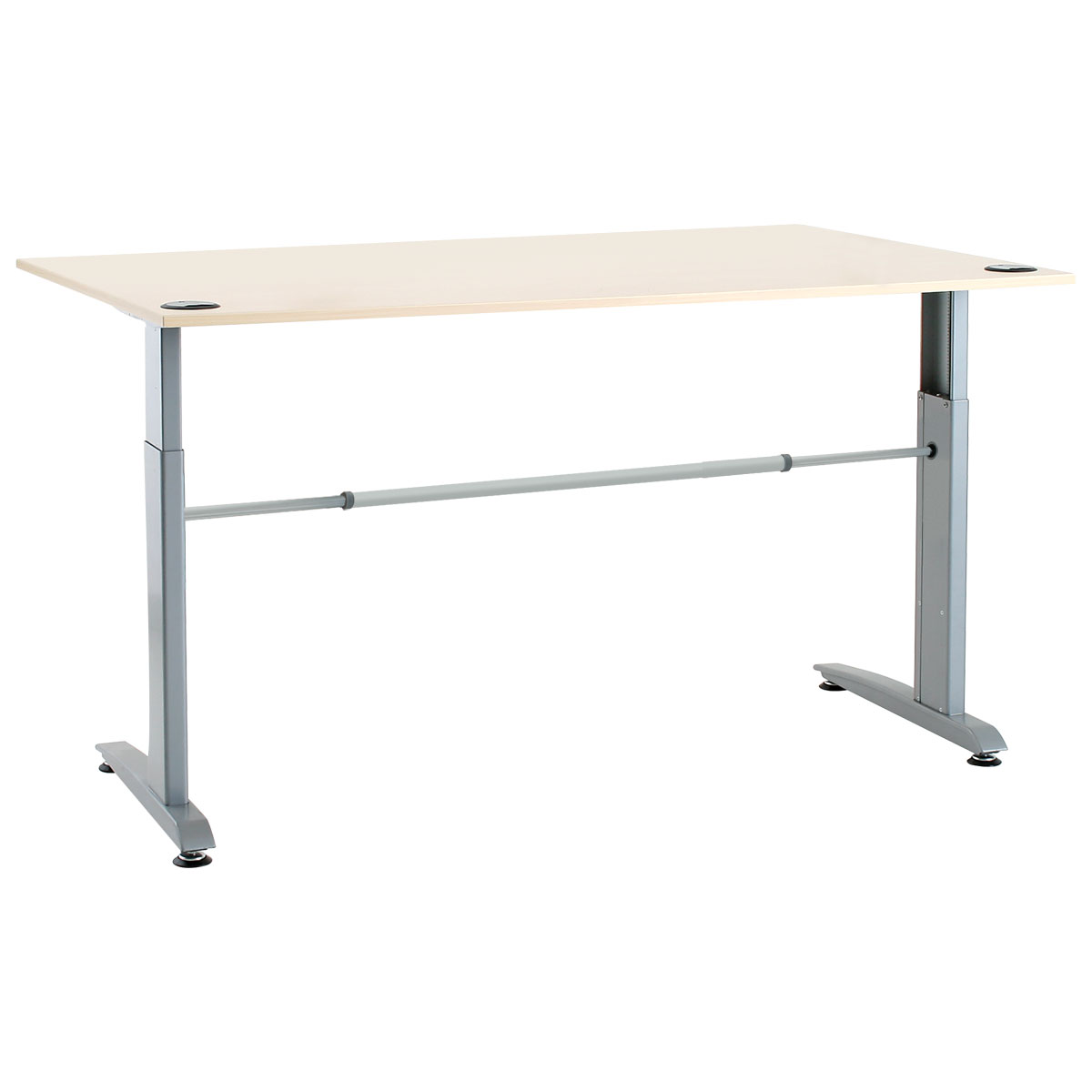 Conset 501 15 laminate electric sit stand desk shop for Motorized sit stand desk